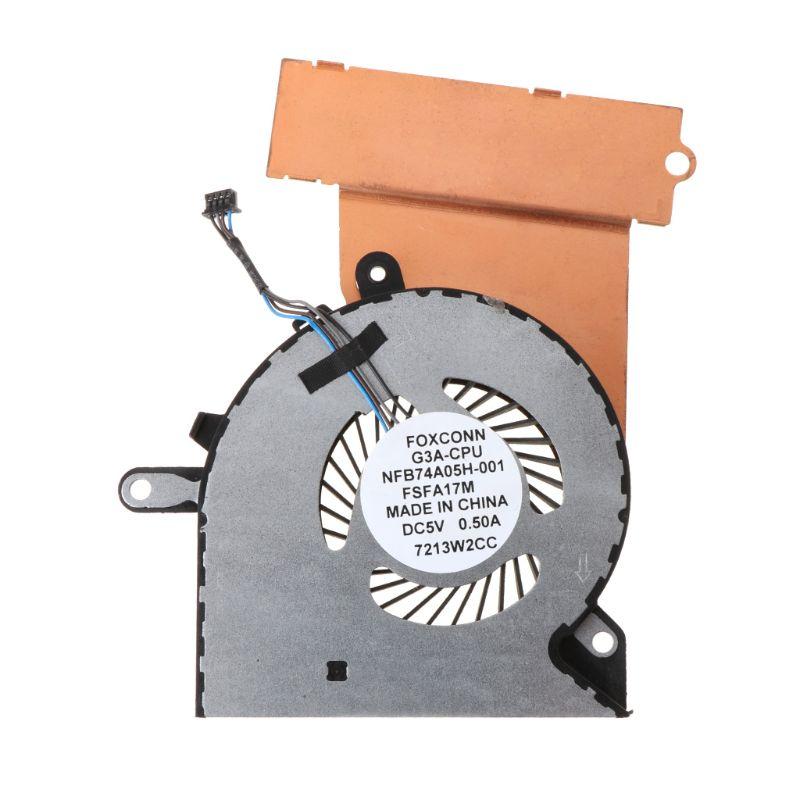 O metal preto substituiu o ventilador de refrigeração da cpu do portátil gpu para hp omen 15-ce 17-um fã mais frio