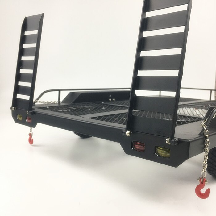 Bouble Axis Heavy Duty All Metal Trailer for 1/10 Rc Rock Crawler Truck Traxxas Trx4 Axial Scx10 90046 90047 Cc01 D90 D110 enlarge