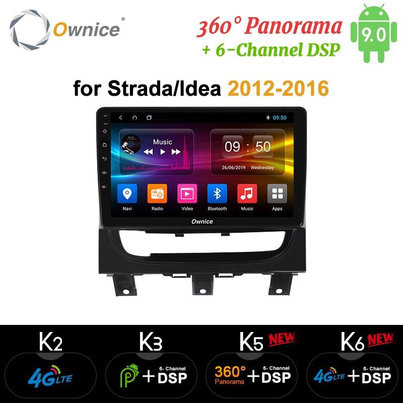 Ownice K3 K5 K6 Android 9.0 DSP 360 Panorama Car GPS Navi Radio Player for Fiat Strada cdea 2012 - 2016 4G LTE Optical Car DVD