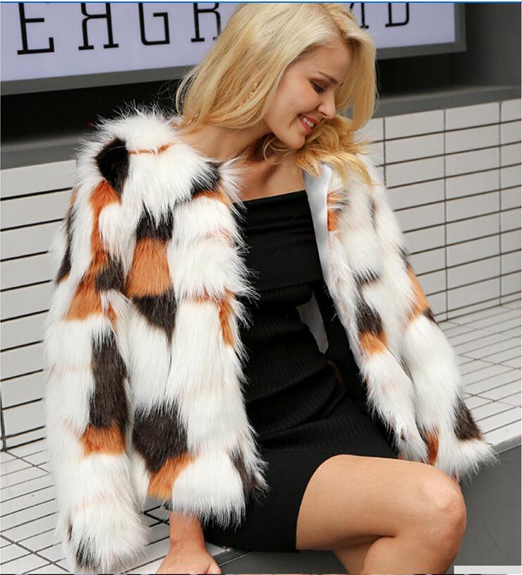 Куртки из искусственного меха, женские короткие куртки большого размера разных цветов из искусственного меха, женская сексуальная верхняя ...