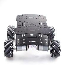Double plaque 10KG charge 4WD Omni Mecanum roue voiture Kit avec 4 pièces vitesse codeur moteur pour Arduino framboise Pi ROS Robot