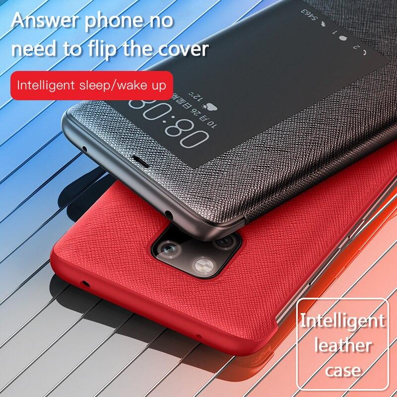 Funda de teléfono magnética de cuero genuino con tapa para Huawei P30 Pro P20 Mate 20 X Mate20 Mate10 Pro P30 P20pro Mate 10 20 pro