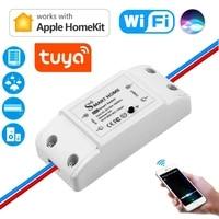 Interrupteur de lampe Led intelligent Apple Homekit Tuya  interrupteur de relais  disjoncteur  telecommande wifi  fonctionne avec Echo Alexa Google Home