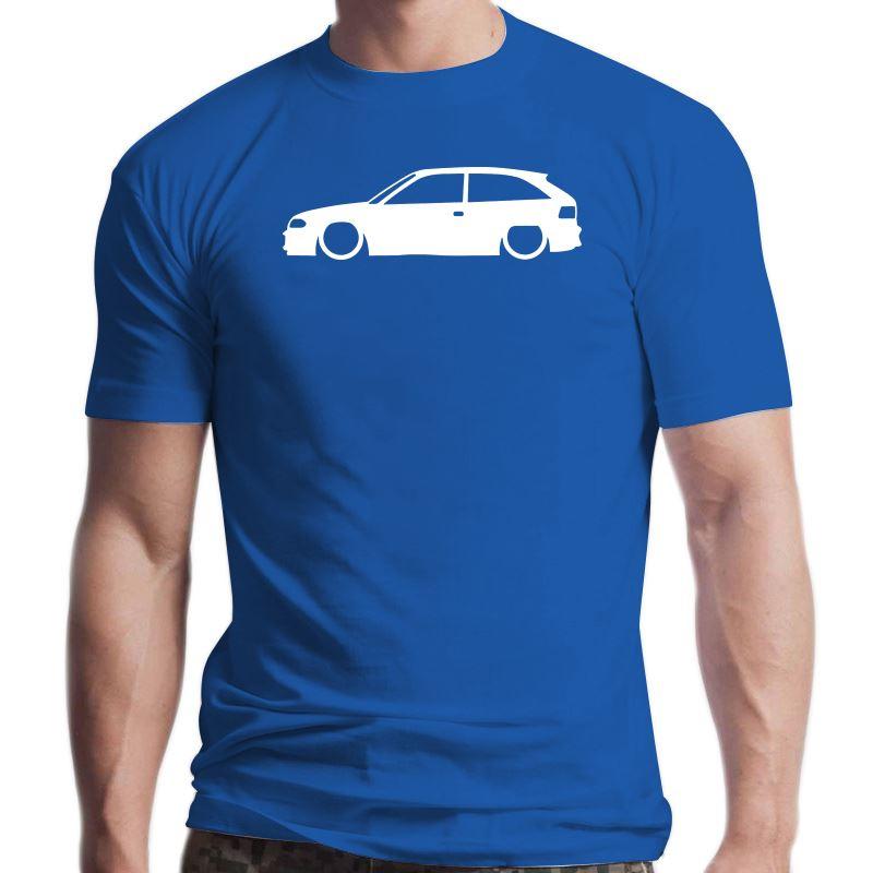 Camiseta de algodón con estampado de Astra Mk3 Gsi Contorno, 100%, Cuello...