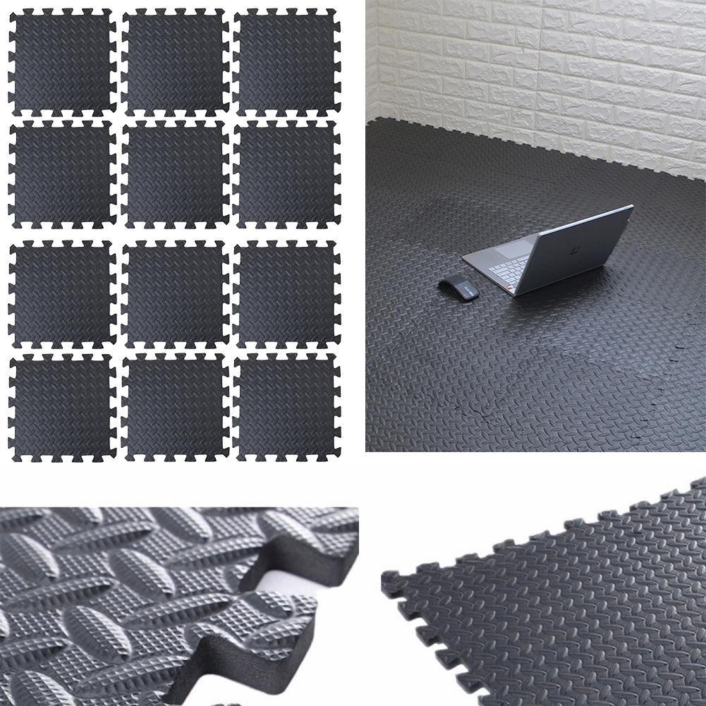 12 pièces/ensemble tapis de sol de gymnastique Puzzle tapis dexercice EVA mousse carreaux de verrouillage pour gymnastique à domicile entraînement tapis de Yoga accessoires