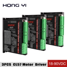 3PCS CL57 Hybrid Servo motor Drive mit 57 Serie Geschlossen-Schleife Motor Strom 7A Unterteilung 18-90VDC für 3D drucker zubehör