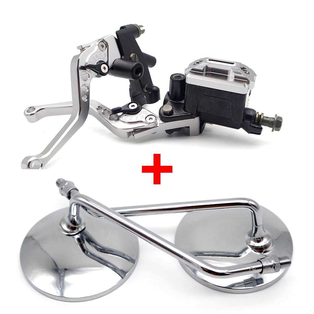 Para BMW k100 Kawasaki zx14 KTM rc 390 honda cbr 1000 rr CNC de la motocicleta ajustable Marco de placa de matrícula soporte # z35