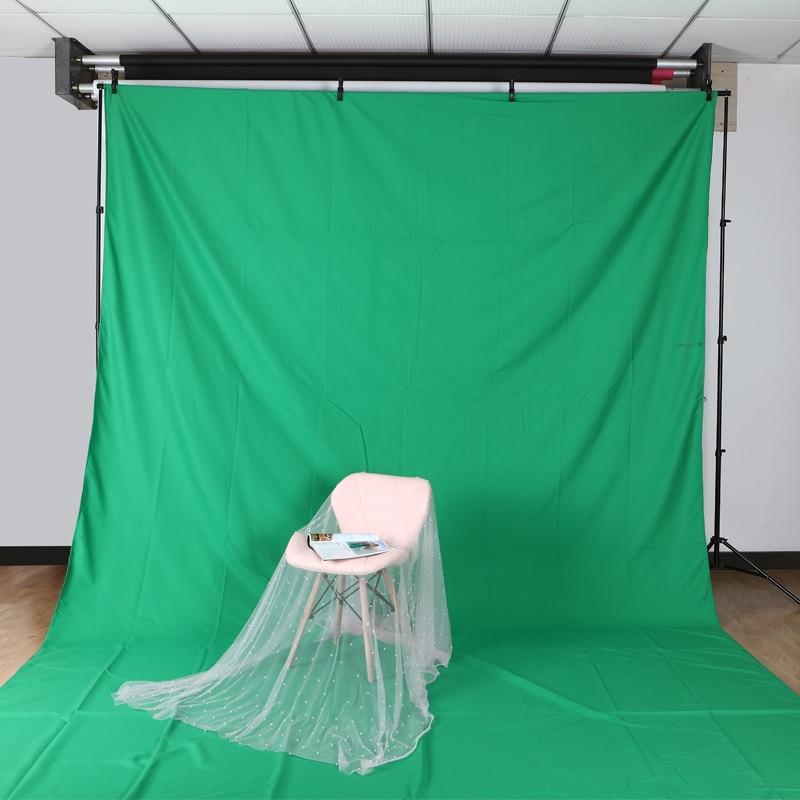 3m X 6m /9.8ftX19.6ft algodón Chromakey muselina Fondo telón de fondo para foto iluminación estudio Verde Negro Blanco opcional