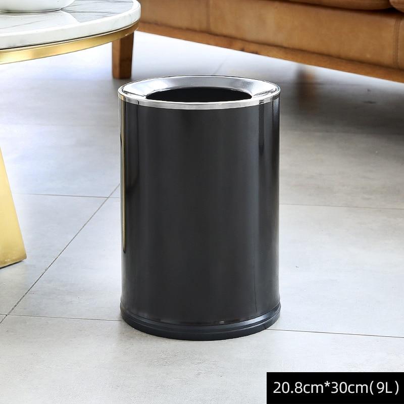 White Trash Bin Bedroom Nordic Large Kitchen Storage Luxury Modern Trash Bin Rangement Cuisine Household Cleaning Tools BD50WB enlarge