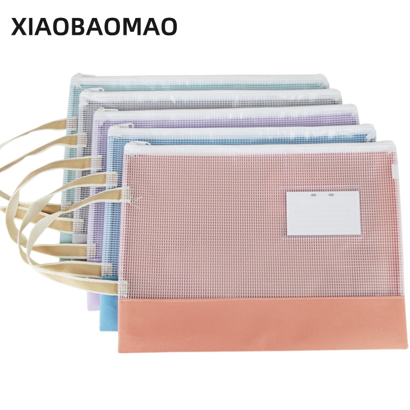 cute animal shadow multi function file folder a4 for documents organizer paper clip file wordpad stationery school supplies XIAOBAOMAO Transparent file organizer a4 documents file bag folder PVC file bag paper holder office school