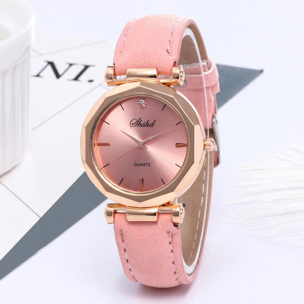 2021 Women's Watch Leather Rose Gold Dress Female Top Brand Clock Luxury Brand Design Women Watches