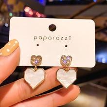 Aiguille classique acrylique coeur femmes balancent boucles doreilles amour mignon boucles doreilles pour les femmes bohème boucles doreilles