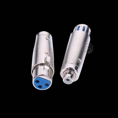 XLR hembra a RCA hembra, conector adaptador de Audio para micrófono, altavoz