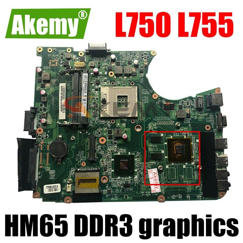 DABLBDMB8E0 A000080140 ل toshiba satellite L750 L755 اللوحة HM65 DDR3 الرسومات