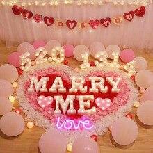 Décorations en lettres combinaison Led   Décoration Mariage Mariage Mariage Me, accessoires de décoration de maison lumineux