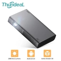 ThundeaL T615 DLP projecteur 2000 Ansi WiFi Android Mini projecteur Portable pour 1080P 4K video Mini projecteur 300 pouces 3D Home Cinema