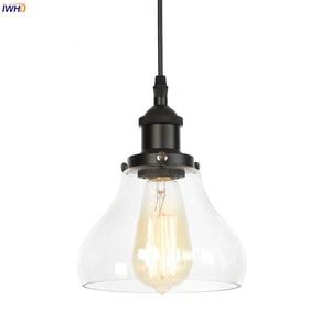 IWHD Loft Decor Industrial Vintage lighting Bedroom Dinning Living Room Glass Edison Pendant Lights Fixtures Lamparas Colgantes