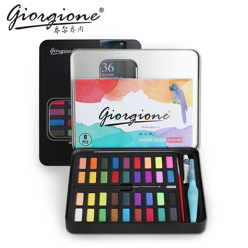 36/48 Colors Giorgione Watercolor Paint Sets Watercolour Water Color Pigment Oil Paints School Painting Drawing Art Supplies