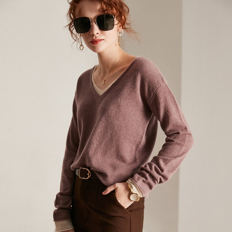 100% Cashmere Women Sweater and Pullovers 2020 Autumn Winter Women Full Sleeve Sweater Warm French Style High Quality enlarge