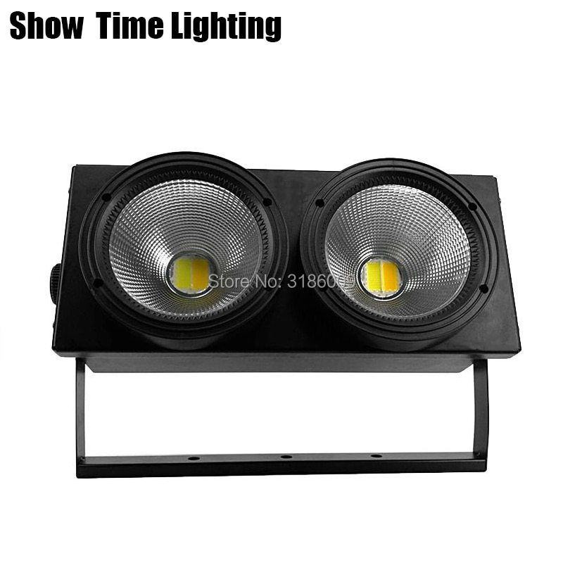 200W Dj Led Cob Par Light 2 Eyes White/Warm 2 IN 1Point Control Good Use For D0isco Stage Effect Camera Performance Night Club