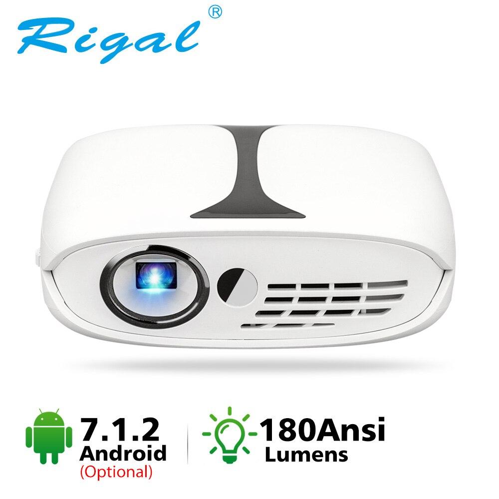 Mini proyector DLP RD606 HD LED DLP Wifi proyector opcional Android 7,1 bolsillo Pico proyectores batería Mini proyector portátil soporte  máximo HD1080p 3D cine en casa