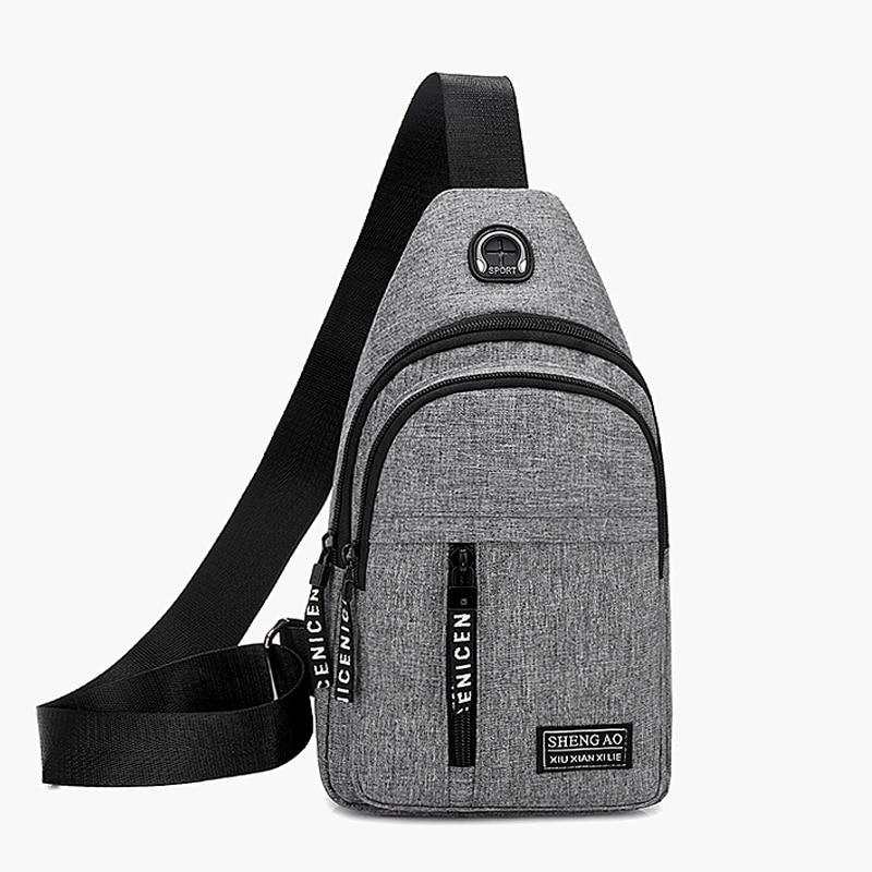 Men's Belt Bag Street Fashion Can Put Earphones Multi-Function Outing Travel Waist Bag Oxford Cloth
