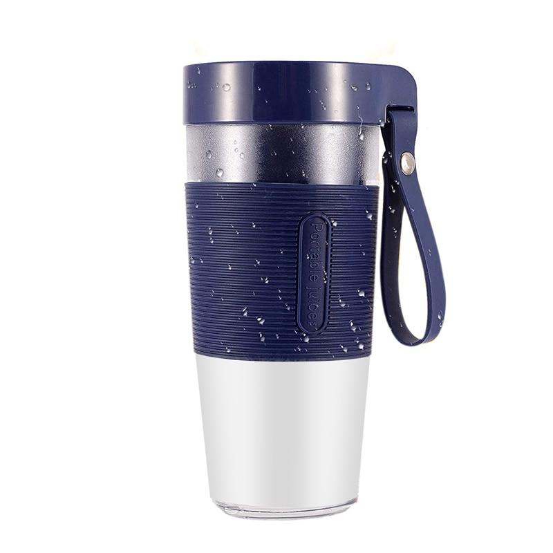 خلاط 7.4 فولت محمول ، خلاط شخصي للعصائر والشكر مع USB قابل لإعادة الشحن للمطبخ ، والسفر ، والأزرق