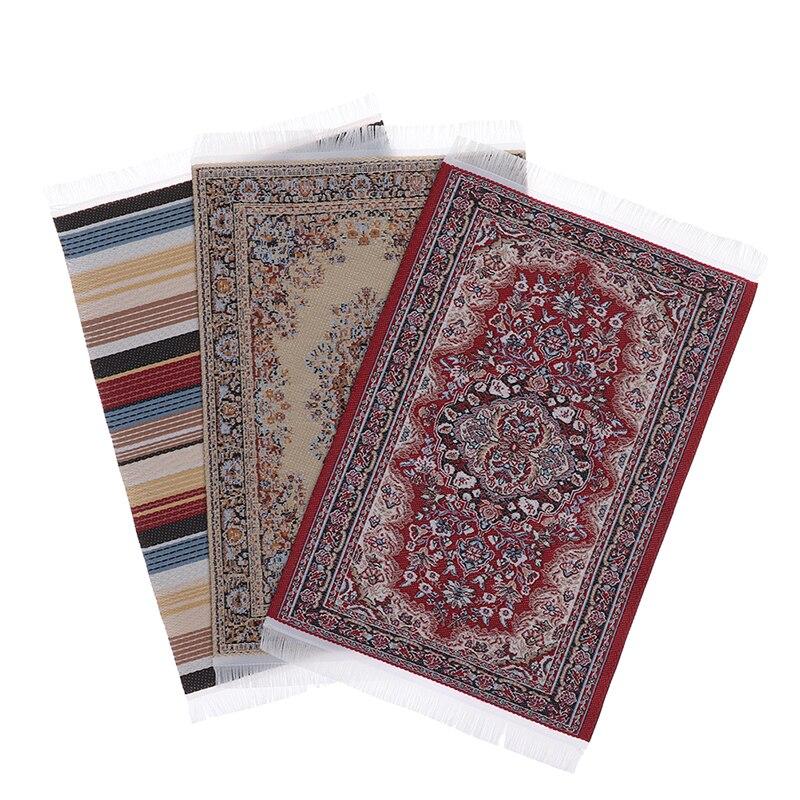 Миниатюрный коврик/ковер для кукольного домика в турецком стиле, напольные покрытия для кукольного домика, украшение мебели для любых комн...
