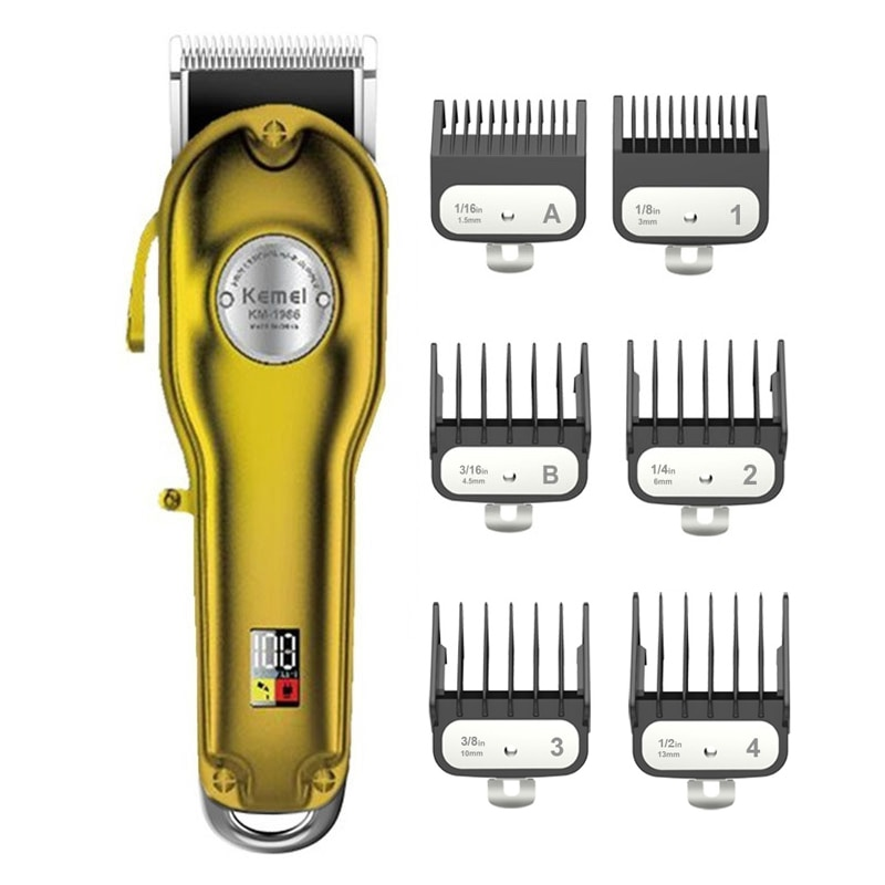 Kemei professional clipper all-metal rechargeable hair trimmer for barber men electric beard shaver hair cutting machine km 2024 1996 1971b kemei all metal professional electric hair clipper rechargeable hair trimmer haircut shaving machine