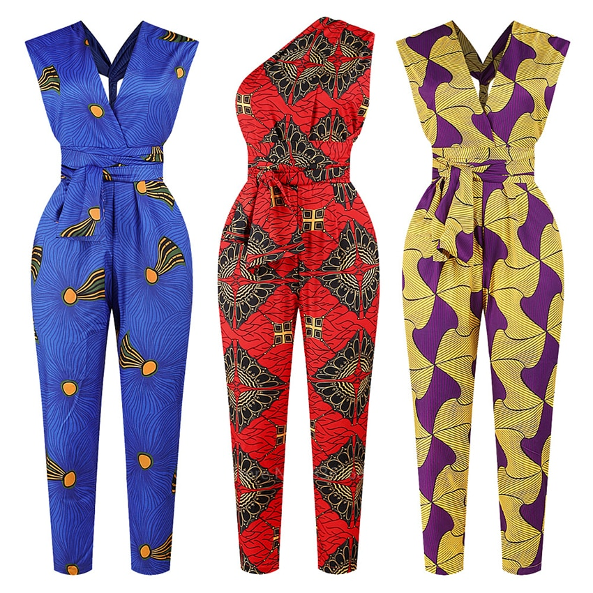 Модная женская одежда 2020New Year в африканском стиле Анкара Стиль DIY бандажный халат африканские Дашики комбинезон этническое сексуальное платье для женщин
