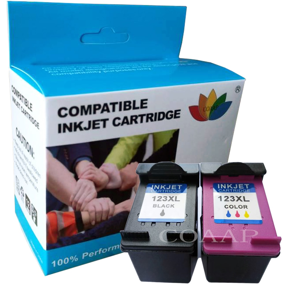 COAAP rellenar hp 123 XL cartucho de tinta para Deskjet serie 1110, 2130, 2132, 2133, 2134, 3630, 3632, 3637, 3638