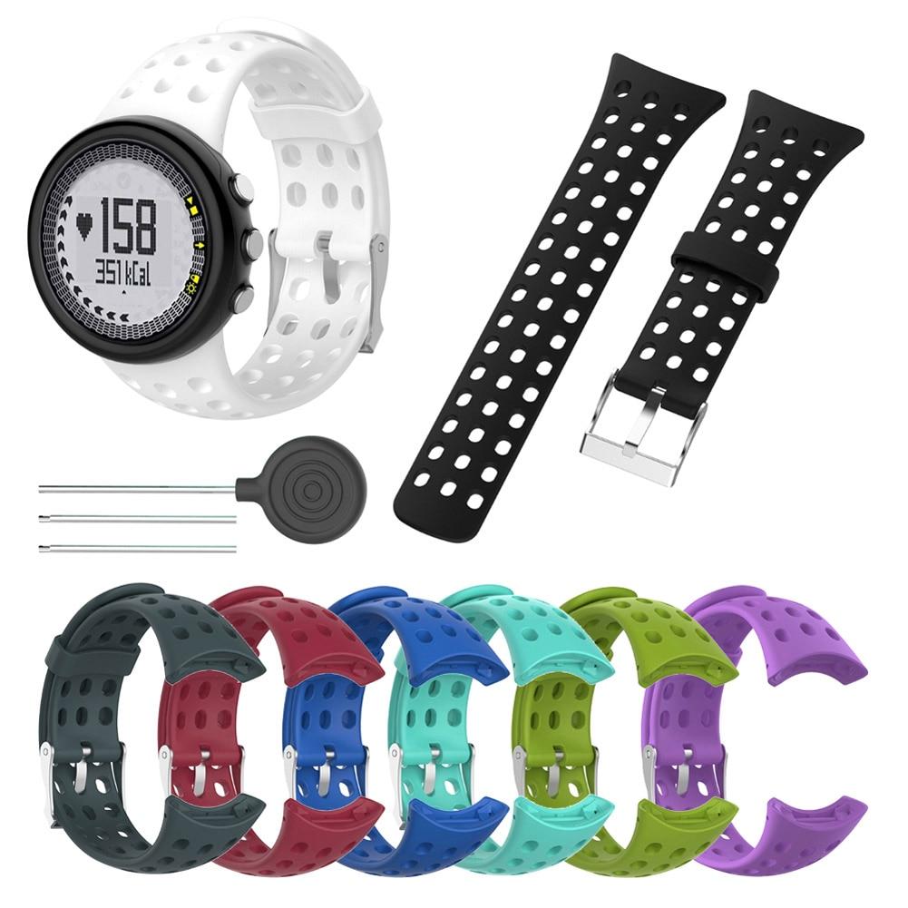 1 Pcs Men Replacement Silicone Watch Band Strap Compatible SUUNTO M1 M2 M4 M5 M Series HSJ88