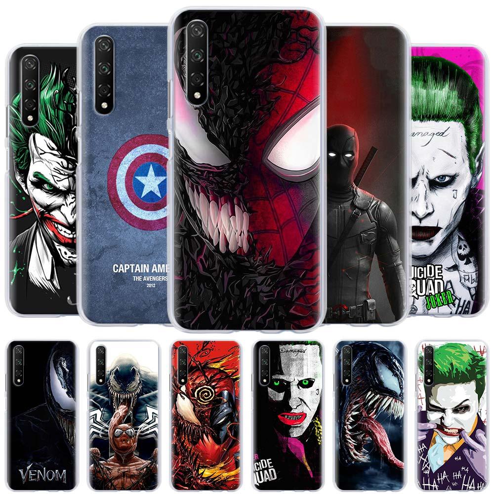 Joker veneno marvel funda de Spiderman para Huawei Honor 8A 9A 8X 9X Pro 9S 9C 10i 20i 10 20 Lite 30 Pro 30S X10 cubierta de la cáscara del teléfono