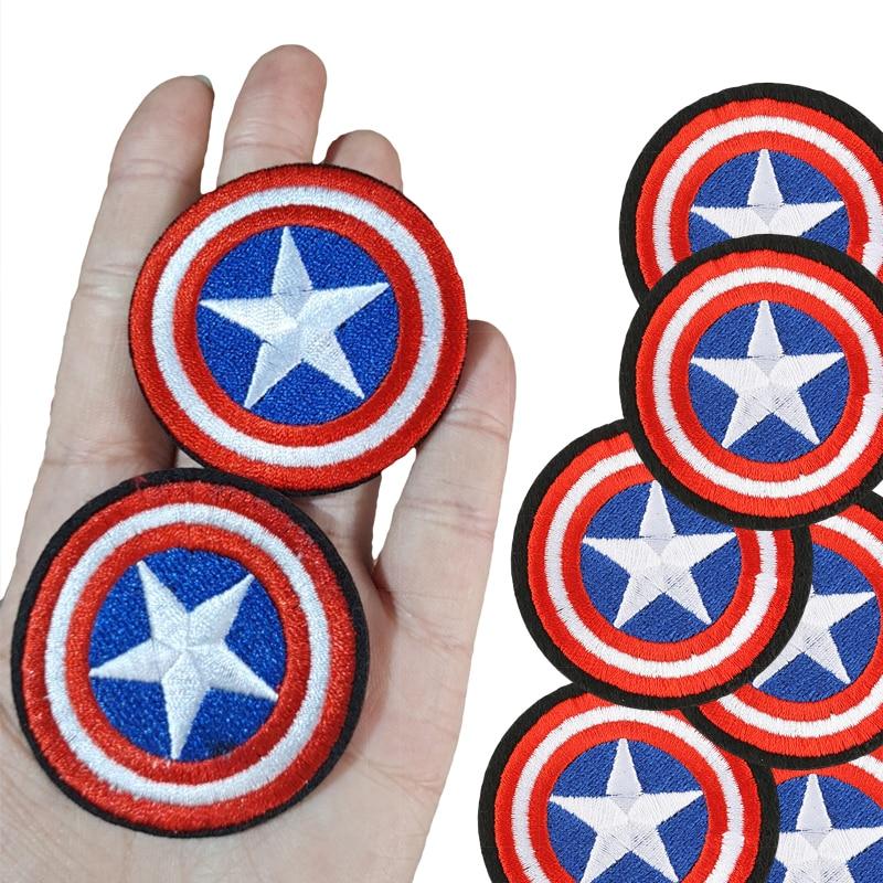 Патч-наклейки на ткань Disney Marvel captain America, 1 шт., прикрепленный к одежде, аксессуары, нашивка на одежду, наклейки Патчи для одежды