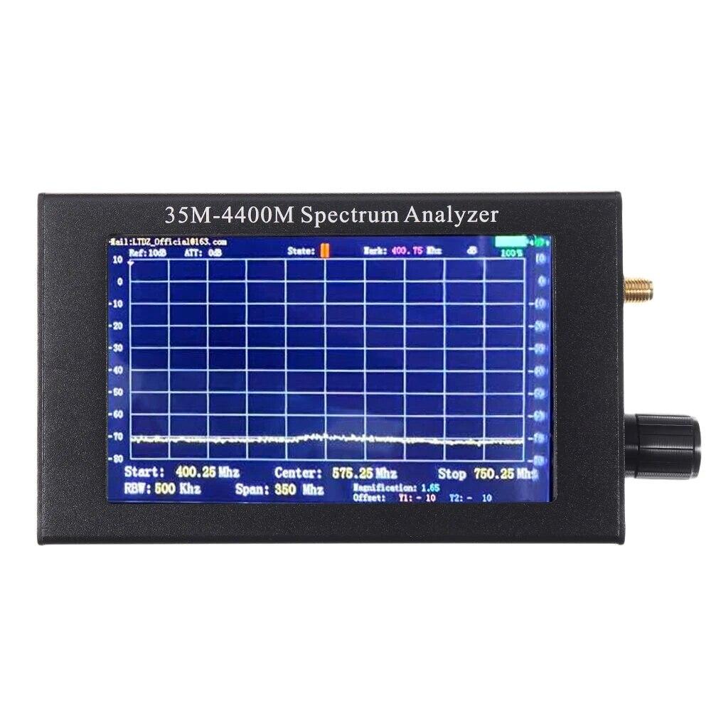 Handheld do Sinal do Espectro do Usb do Analisador do Espectro Durável do Uso do Sinal do Interfone Espectro de 4400m da Ferramenta Larga Adf4351 35m-medida de 4400m da