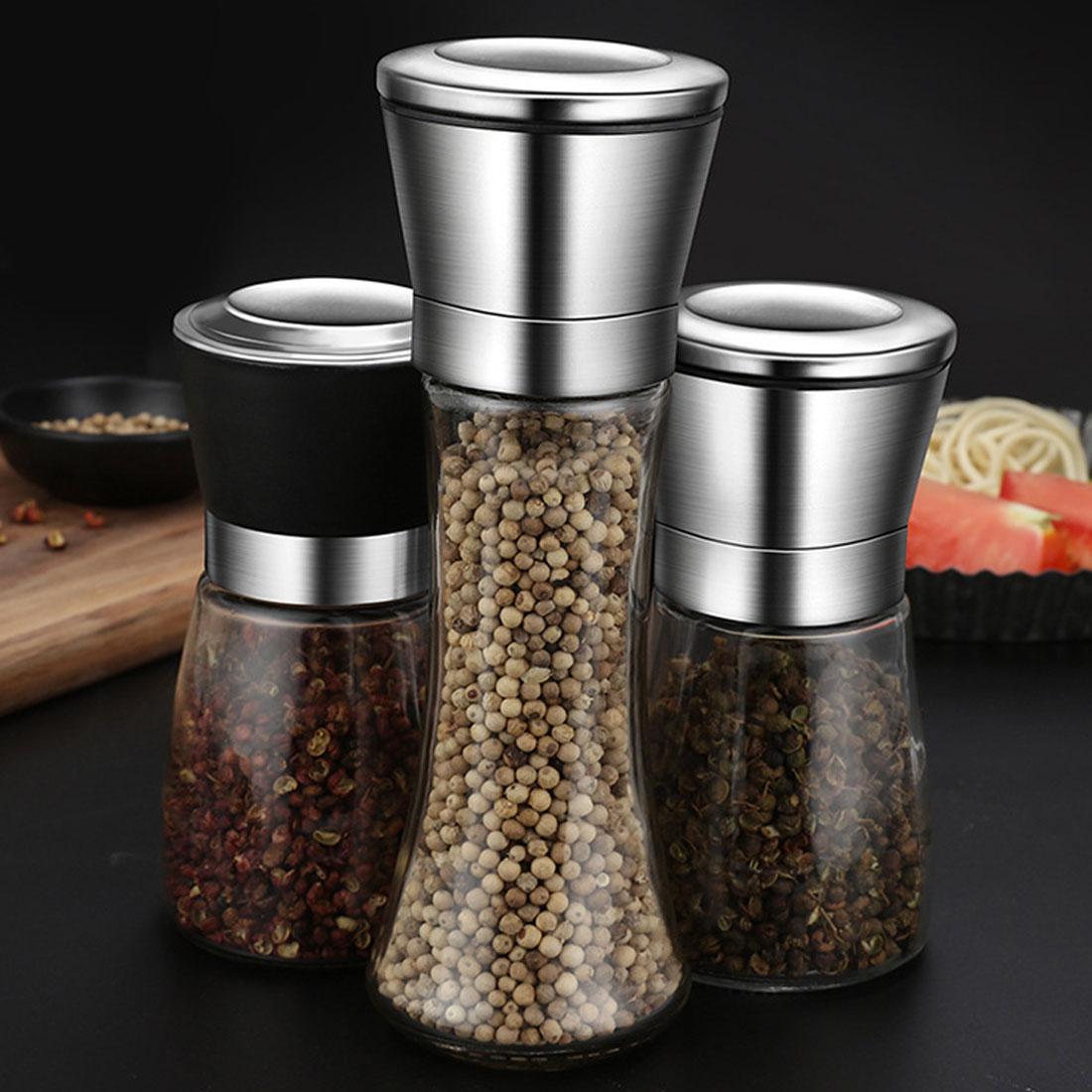 Molinillo Manual de acero inoxidable para cocina, sal, arena, pimienta, pimentero, hierba, perejil, Molinillo, molinillo de pimienta, molinillo de cerámica