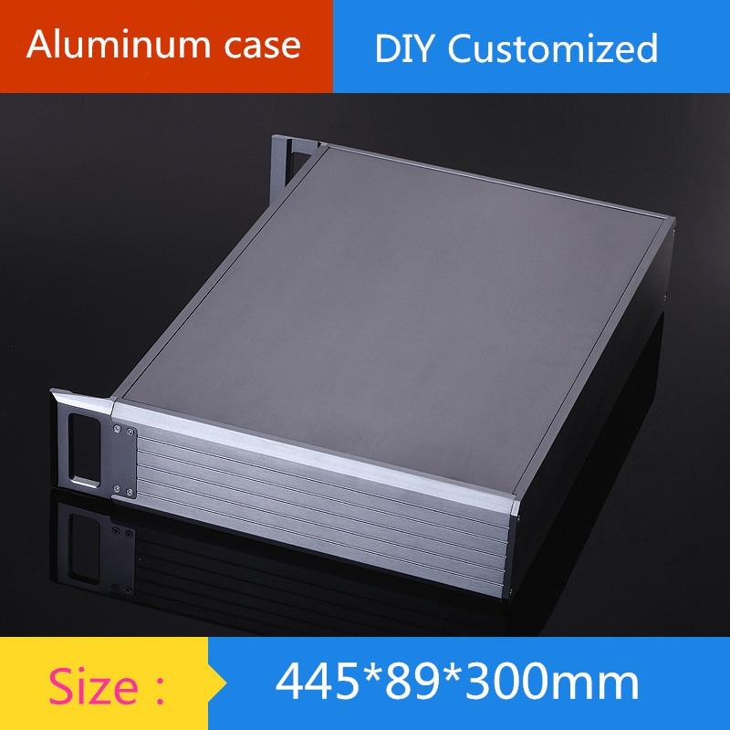 KYYSLB-علبة مكبر للصوت من الألومنيوم ، 445 × 89 × 300 مللي متر ، هيكل أدوات هيكل مكبر للصوت ، DIY