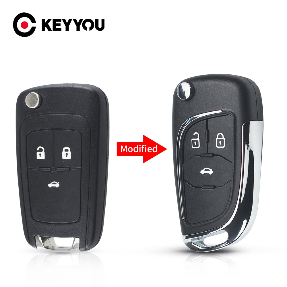 Modified Folding Remote Car Key Shell For Chevrolet Cruze Epica Lova Camaro For Opel Vauxhall Insignia Astra Mokka For Buick