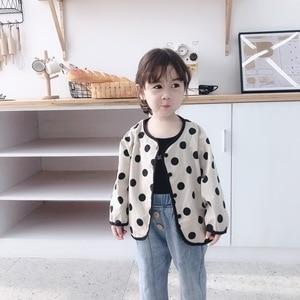 Children Jacket 2019 Autumn New Girl Beige Polka Dot Coat Thin Section Sunscreen Boys And Girls Baby Jacket