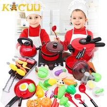 2020 plus récent chaud 44 pièces enfant en bas âge filles bébé enfants jouer maison jouet ustensiles de cuisine casseroles casseroles nourriture plat ustensiles de cuisine enfants cadeau