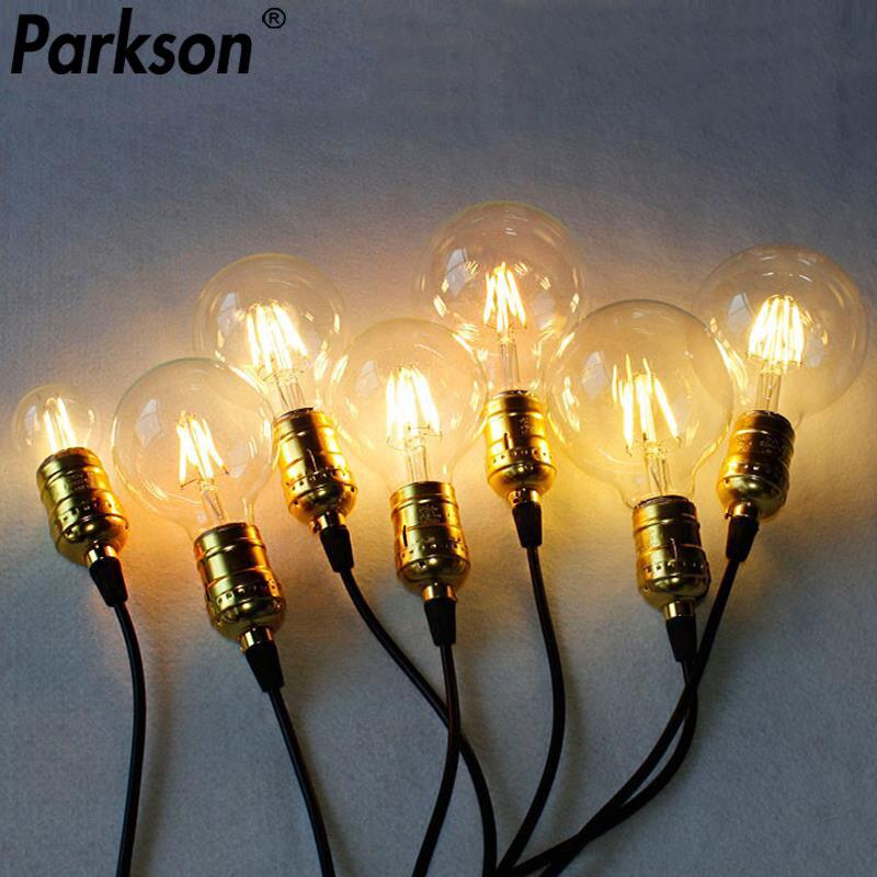 E27 E14 bombilla LED 4W 6W 8W 220V Retro bombilla LED Edison Vintage luz de la vela bombilla de filamento Led decoración Industrial lámpara de Edison