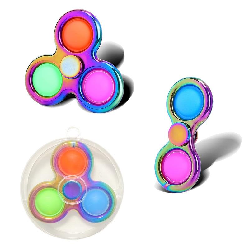 Milti-color Hand Spinner Fidget Zinc Push Bubble Fidget Spinner Metal Bearing Edc Finger Spinner Hand Relieves Stress