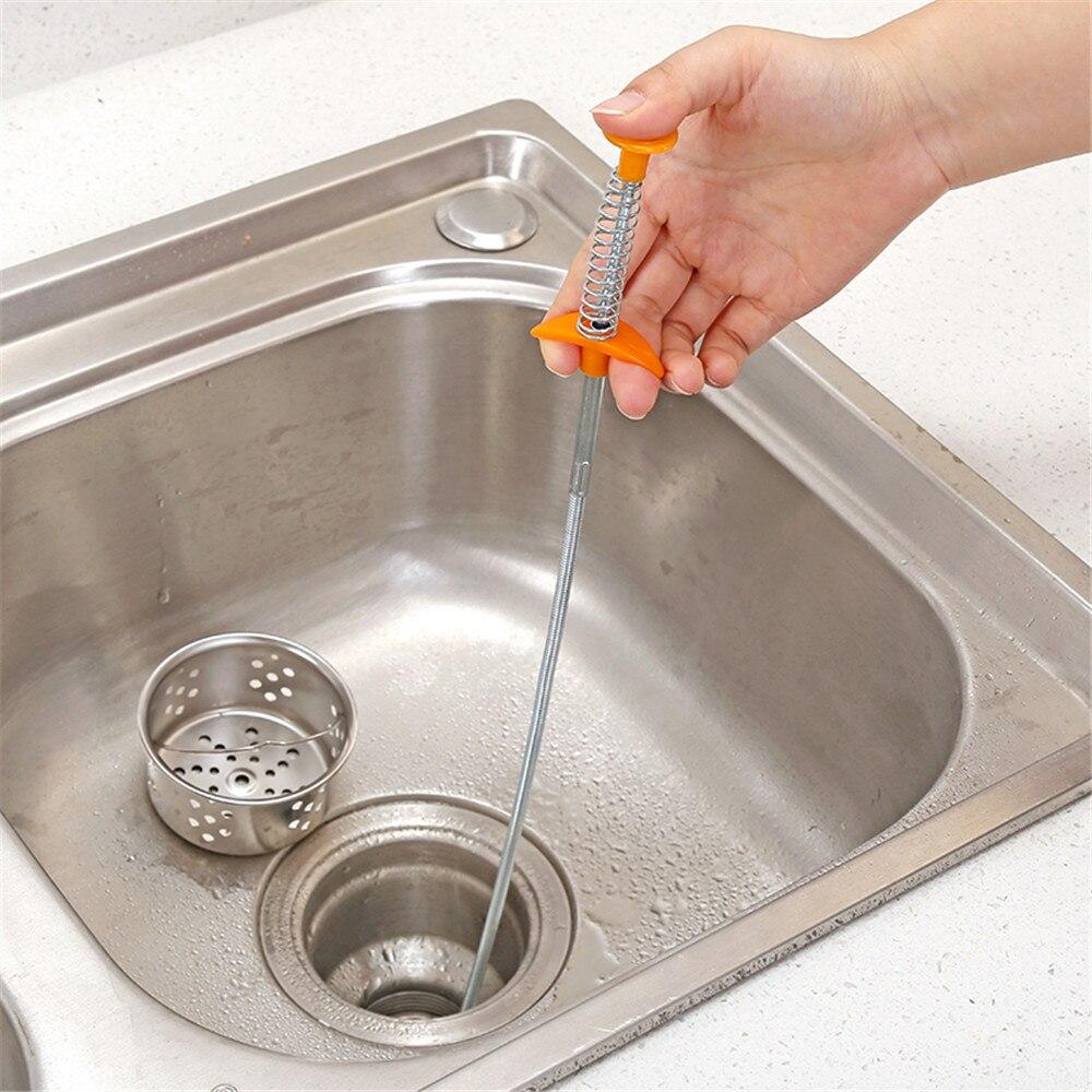 1 шт. приспособление для очистки кухонной раковины, устройство для очистки канализационных труб, инструмент для удаления волос, раковина для удаления волос