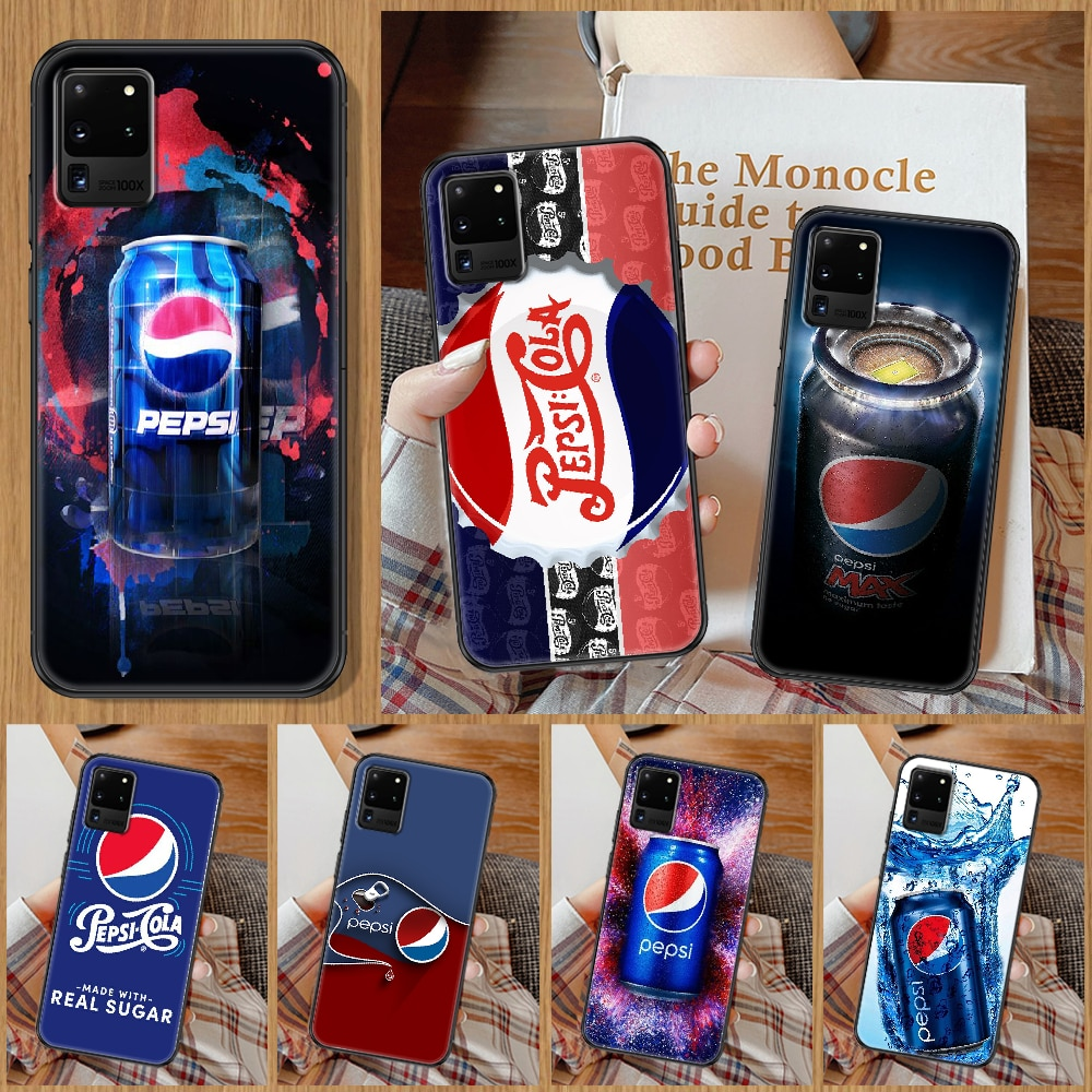 Funny Pepsis Cola Phone case For Samsung Galaxy Note 4 8 9 10 20 S8 S9 S10 S10E S20 Plus UITRA Ultra