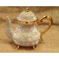 Crystal Turkish Teapots Arabic Tea Pot -1500 ml- Handmade Tea Set Traditional Turkish Tea Coffee Made in Turkey Home Decorati