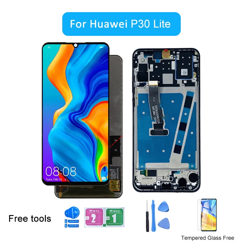 عرض لهواوي P30 لايت MAR-LX1M LX1A LX2 L21MEA LX3A LCD عرض 10 شاشة تعمل باللمس لاستبدال P 30 لايت شاشة LCD