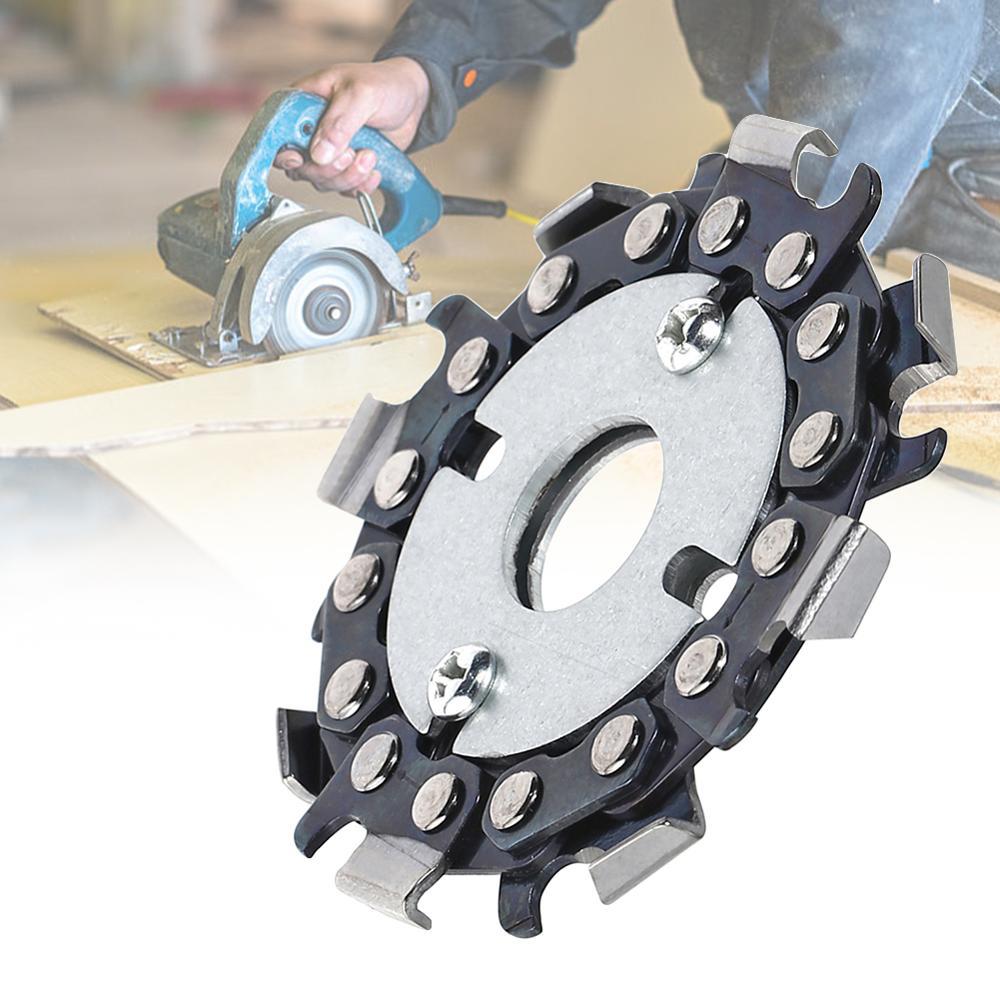 Amoladora de cadena de 2,5 pulgadas sierras de disco herramienta de placa de cadena de carpintería disco de tallado de madera multifuncional de 2,5 pulgadas