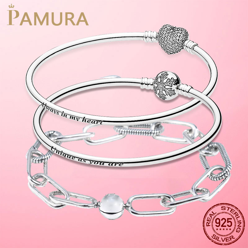 Silver Bracelet 925 Sterling Silver Original Me Bracelet Fit Brand Me Infinity Knot Chain Bracelet femme Jewelry For Women Gift