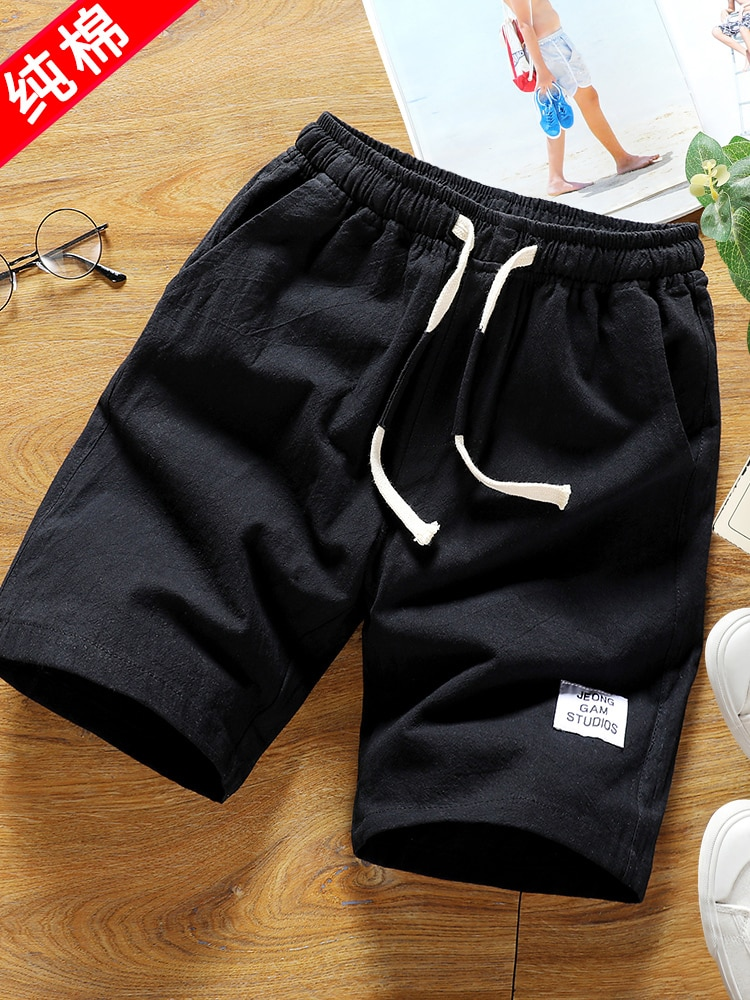 2020 Board Shorts Pants Men Summer Loose Leisure Five Points Sports Seven 5 Beach Trend Pants