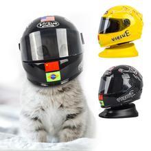 Casques en plastique pour motos   Petits casques dextérieur en forme de chiot chat, accessoires Photo à motifs de chat, modèle de casque de moto